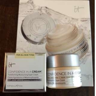 IT Cosmetics Confidence in a Cream Moisturizer, 7ml TRAVEL size. BNIB