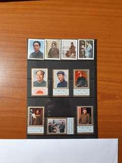 1977 CHINA J21 and 1983 CHINA J97 Chairman Mao Stamps