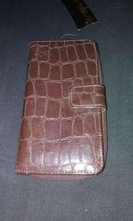 Brown pleather wallet