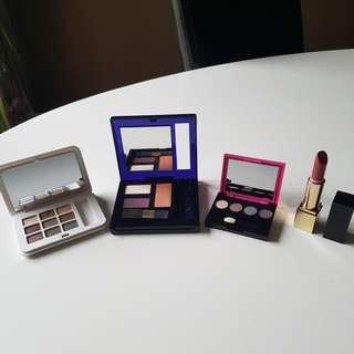 Bulk Estee Lauder Makeup, 3 Palettes and 1 Lipstick.