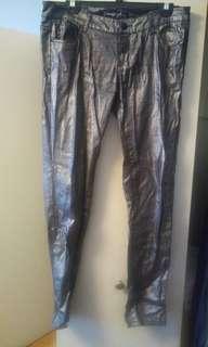 Sparkly gunmetal jeans