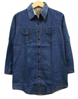 Oversized Blue Denim Shirt
