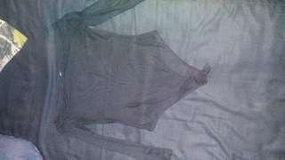 Off shoulder sheer mesh bodysuit