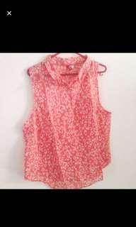 HnM H&M PINK SLEEVELESS TOP