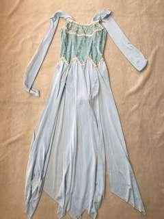 Ice Blue Dancing Costume for Teens