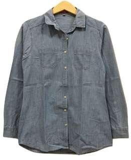 Oversized Light Denim Shirt