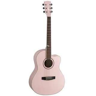 Pink Cort Jade2 Acoustic Guitar