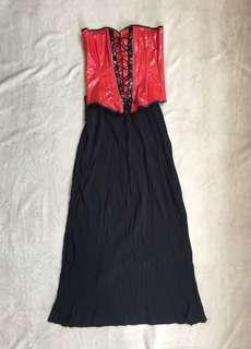 DIY Red Witch Costume (corset and skirt) Size M