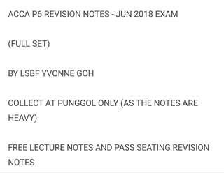 ACCA P6 NOTES