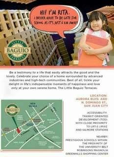 AVAIL RFO FIT WITH FEW UNITS LEFT!! AND 5% PROMO DISCOUNT - 2BR-30SQM - 27K MO AT 10%DP. Move in San Juan condo little baguio terraces. Rent to own nr ortigas manila Gilmore broadway.