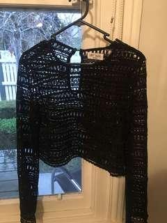 Lost Muse Lace Black Top