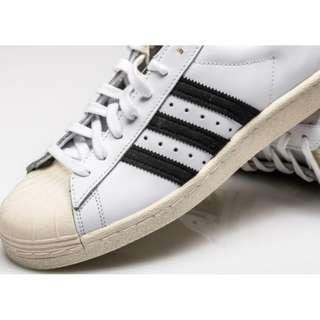 Adidas Originals Superstar 80S (G61070), Warna Putih, Size UK 7 atau 40,5