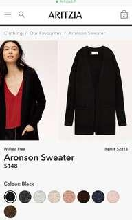 Aritzia Wilfred Free Aronson Sweater Cardigan