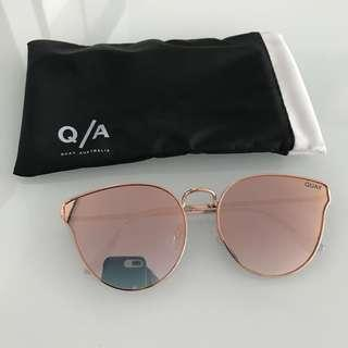 8b7d043b2a Authentic quay Australia all my love rose gold sunglasses sunnies