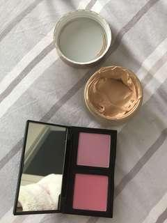 Bobbi Brown Blush and Tarte Foundation