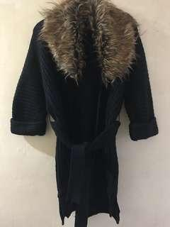 XOXO thick faux faur knit winter jacket, used 3x in NYC ONLY