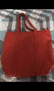 Lacoste red tote zip bag