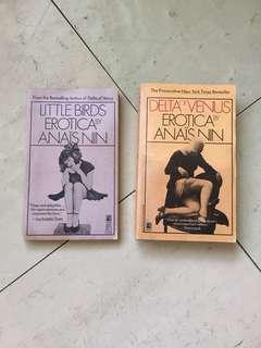 2 Anais Nin books: Little Birds and Delta of Venus
