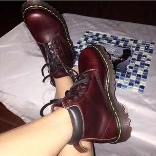 Dr. Martens RARE Burgundy Analine 939 ~ Made in England