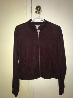Plum Velvet Forever 21 Sweater