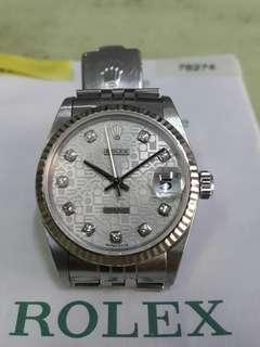 Rolex Oyster 78274 31mm white with 10 diamond dial