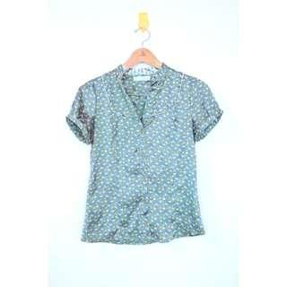 Zara green shirt