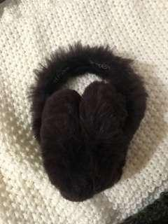 Surell Foldable Authentic Fur EarMuffs From Saks Fifth Ave
