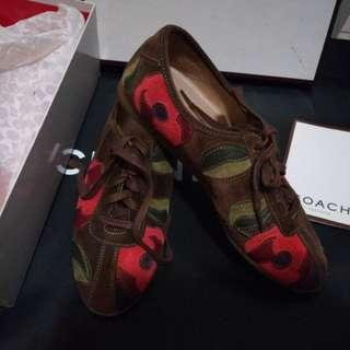 98% New Coach Blossom Brown Suede Sneakers