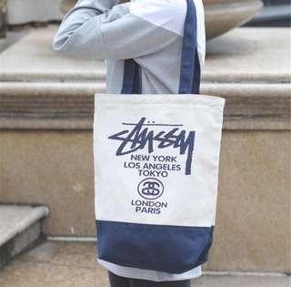 Stussy canvass bag