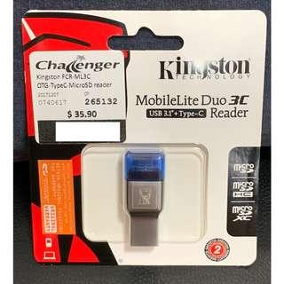 Kingston MobileLite Duo 3C MicroSD Card Reader (Authentic)