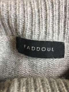 Faddoul silk merino lambs wool jumper