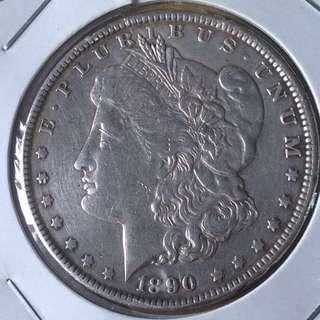 1890 USA Morgan dollar