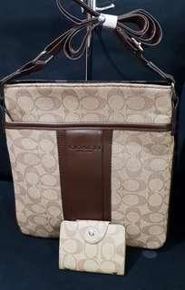 Coach Sling with Card Wallet