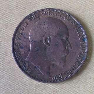 1904 GB Half Penny coin