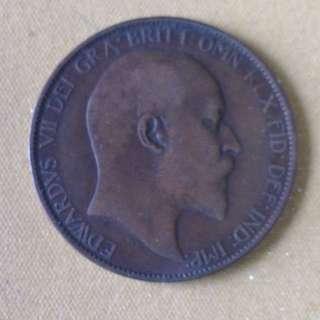 1907 GB Half Penny coin