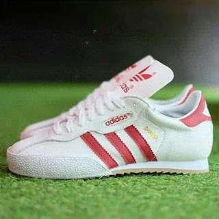 Adidas super samba white red original