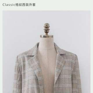 Mercci 格紋西裝外套