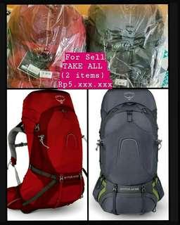 (2items Take All) tas gunung OSPREY ATMOS AG