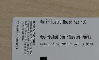 omni theatre ticket for adult child senior citizen , free non registered mail,  we are not responsible for lost mail.