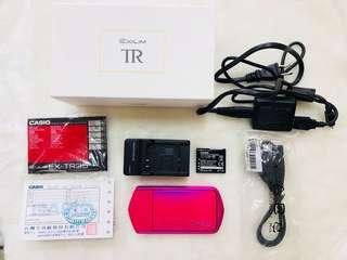 casio TR35 絕美桃紅美顏美圖相機