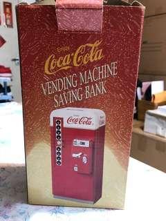 可口可樂金屬迷你雪櫃錢箱coca cola