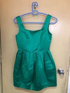 Topshop Green Party dress
