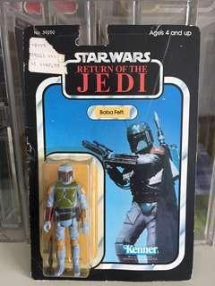 Vintage Star Wars- rare 77back ROTJ boba fett