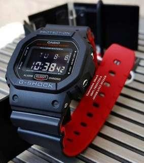 🚚 DEADPOOL🌟THEME in GSHOCK 200M DIVER SPORTS CASIO WATCH : 1-YEAR WARRANTY : 100% ORIGINAL AUTHENTIC G-SHOCK in Absolutely Toughness Best For Most Rough Users & Unisex DW-5600HR-1DR / DW-5600 / DW5600HR / DW5600 / DW-5600BB / DW5600BB / GSHOCK