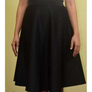 Midi Skirt with Two Side Pockets