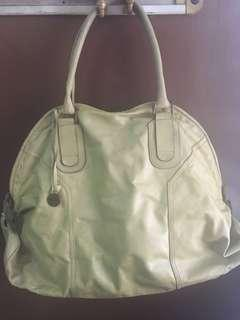 Authentic Mustard Colored Rabeanco Large Tote Bag