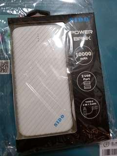 SIDO 10000mAh Power Bank USB Type C 尿袋 流動充電器