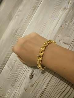916 GOLD RARE HEAVY SOLID ROPE BRACELET