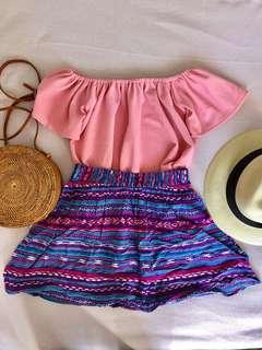 Top and skirt summer set