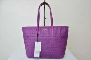 PRE- ORDER LACOSTE PERFORATED TOTE